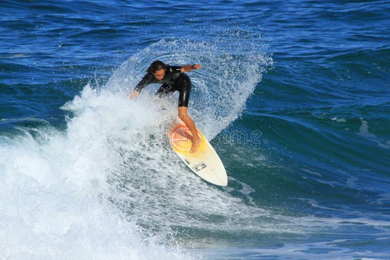 Surfingowiec w Southport, Australia obrazy royalty free