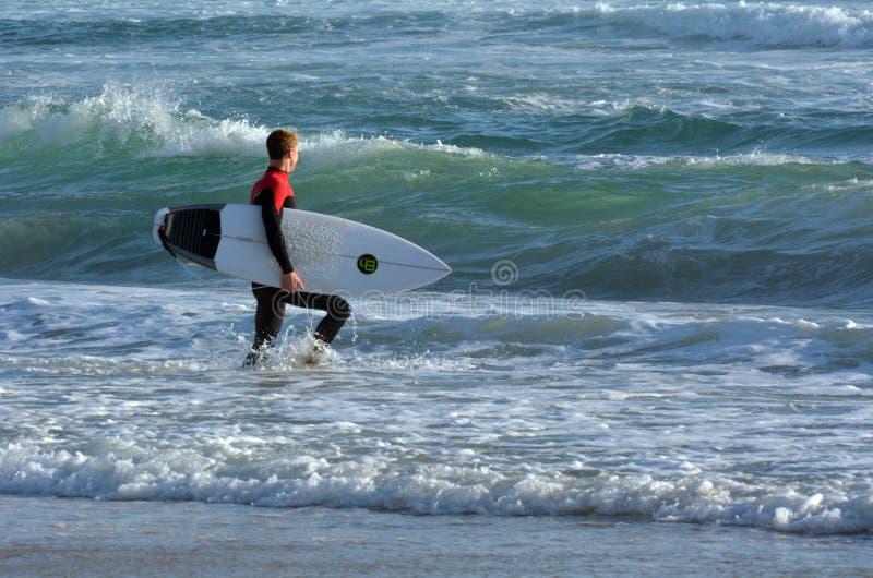 Surfingowiec w surfingowa raju złota wybrzeżu Australia obrazy stock