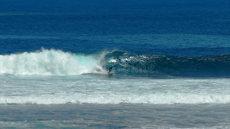 Surfingowowie wskazują sławną dużą falową lokację przy Margaret rzeką obraz stock