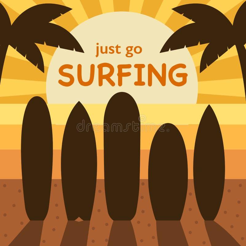 Surfingu czasu pojęcia ilustracja ilustracji