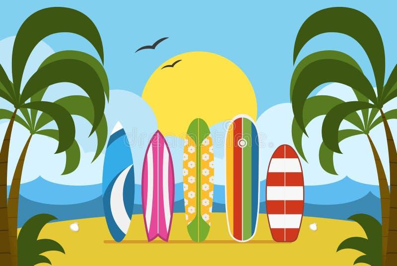 Surfingu czasu pojęcia ilustracja ilustracja wektor