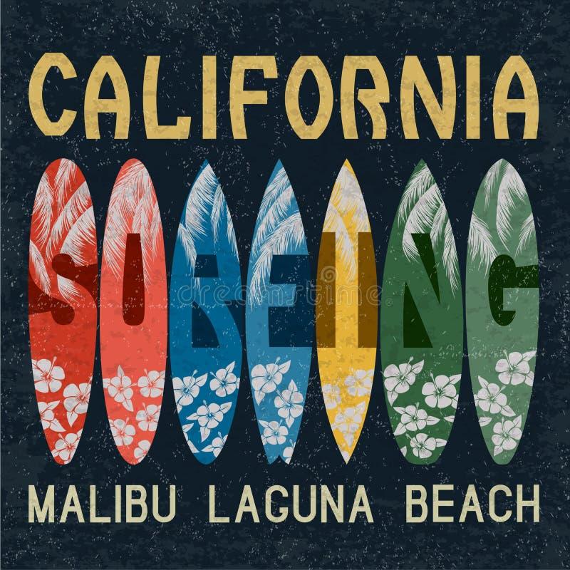 Surfingu emblemat ilustracji