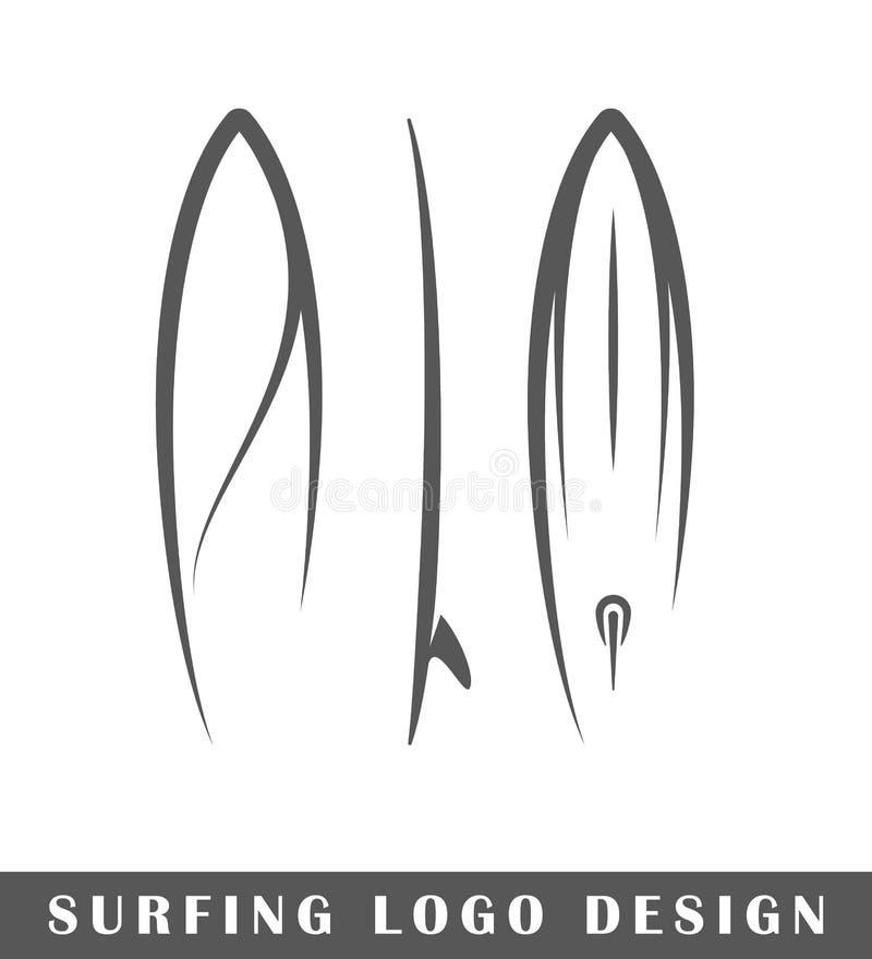 Surfingu loga projekt royalty ilustracja