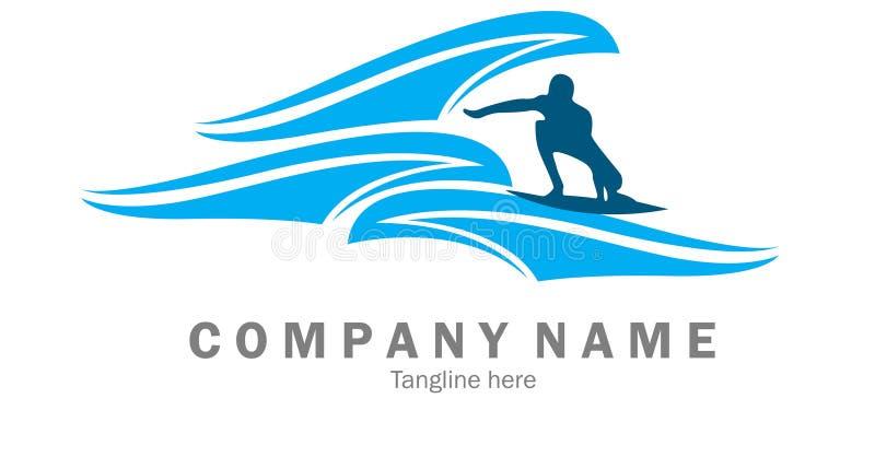 Surfingu logo projekty Z falą zdjęcie stock