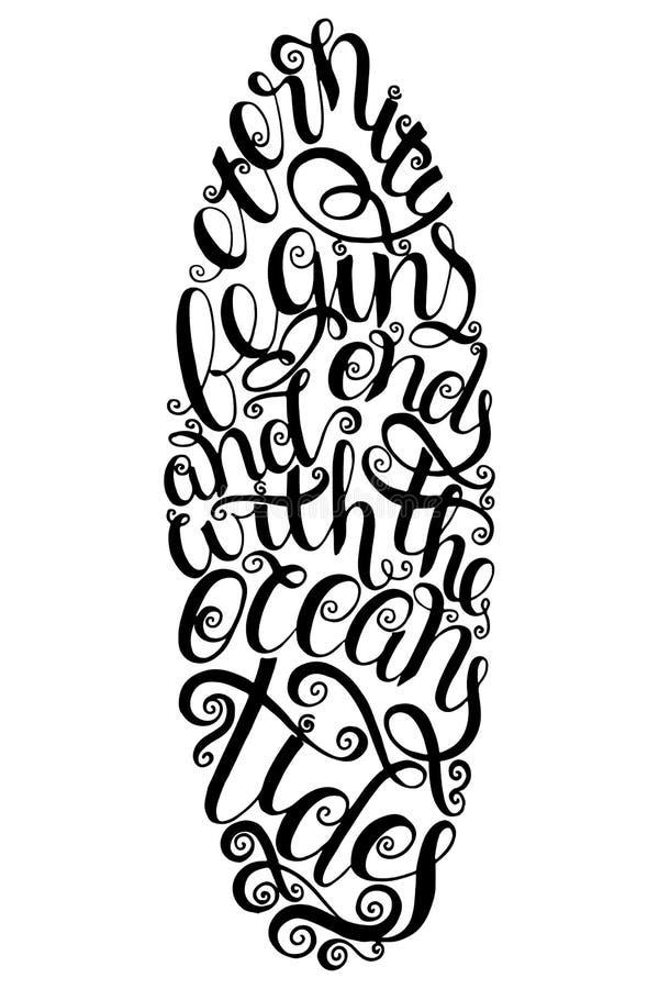 Surfingu plakat dla, grafika i Kipieli typografii odznaka Surfboard foka, elementy, symbole Lato royalty ilustracja
