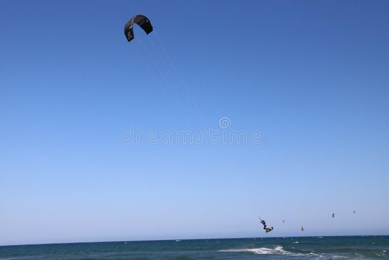 Surfist in Franse Riviera Frankrijk royalty-vrije stock foto