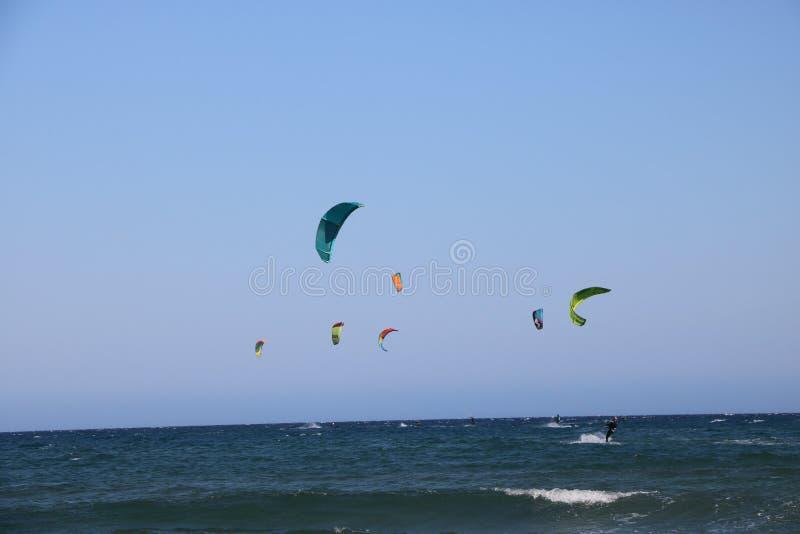Surfist in Franse Riviera Frankrijk stock foto's