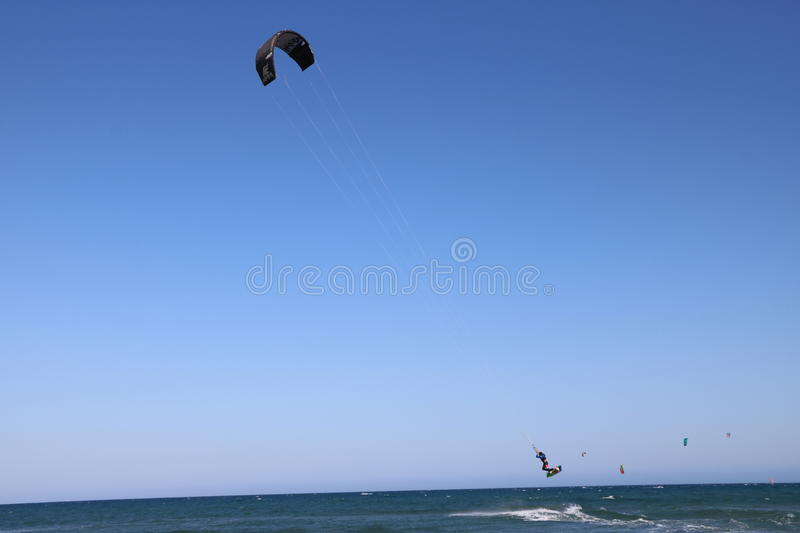 Surfist in French Riviera France royalty free stock photo