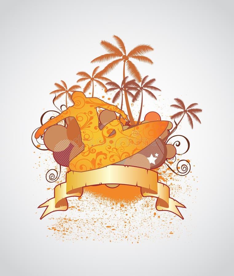 Surfista royalty illustrazione gratis