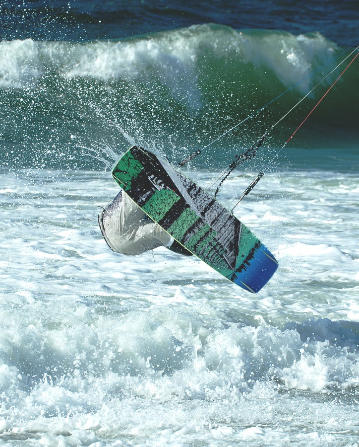 Surfista 4 do papagaio foto de stock