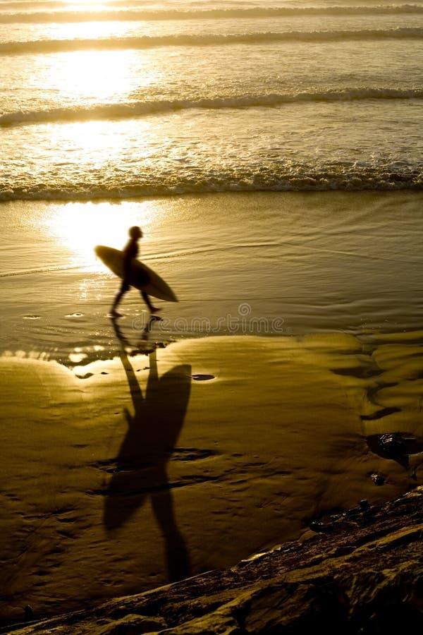 Surfista da praia foto de stock royalty free