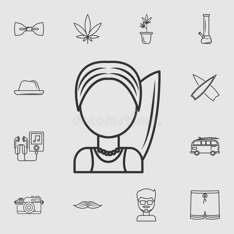 Surfista dell'icona Insieme dettagliato delle icone di stile di vita Progettazione grafica di qualità premio Una delle icone dell illustrazione di stock