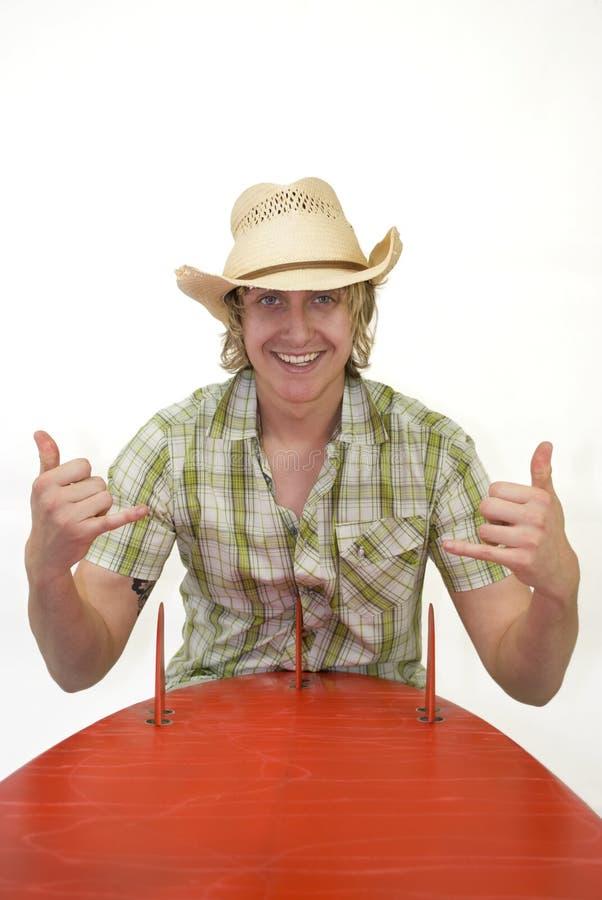 Surfista do cowboy foto de stock