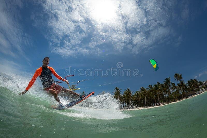 Surfista do papagaio imagens de stock