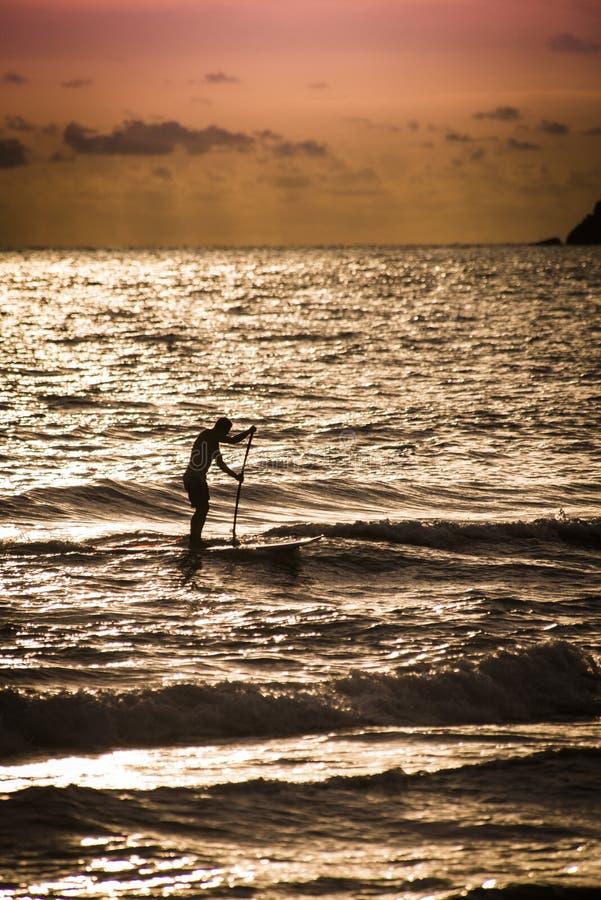 Surfista do Sup imagens de stock