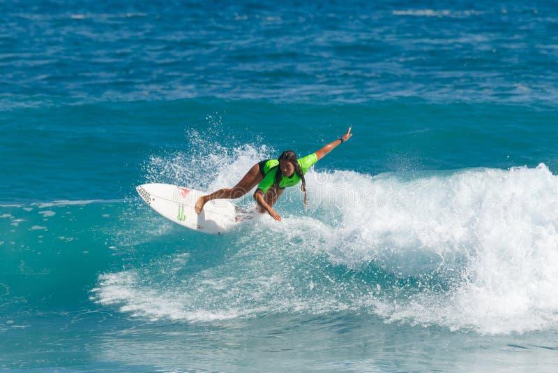 Surfista Dominica Barona fotografía de archivo libre de regalías