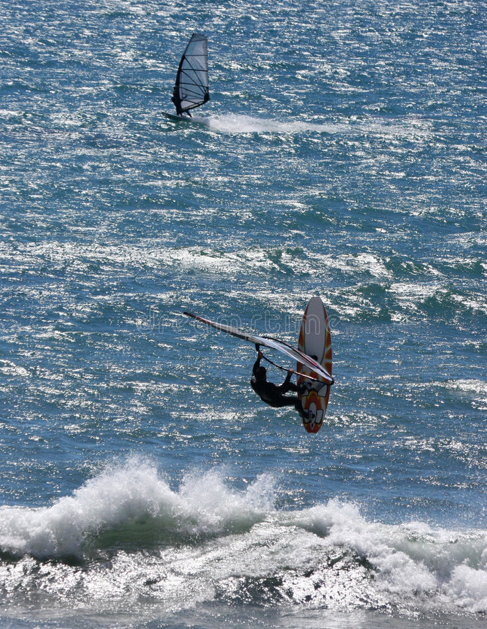 Surfistas do vento foto de stock