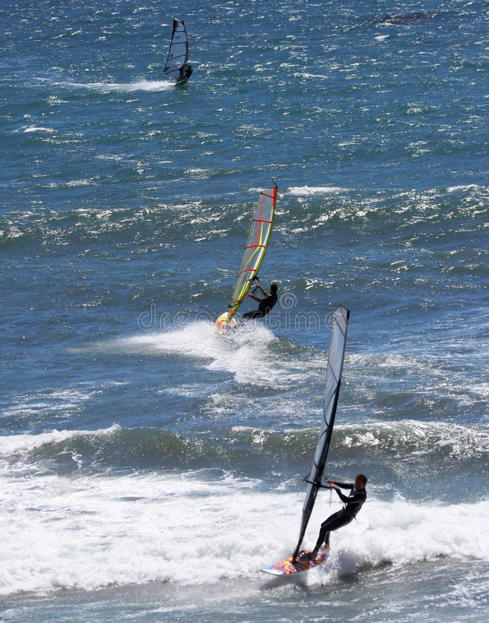 Surfistas do vento fotos de stock royalty free