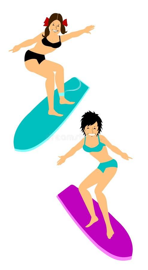 Download Surfisti illustrazione di stock. Illustrazione di standing - 56888988
