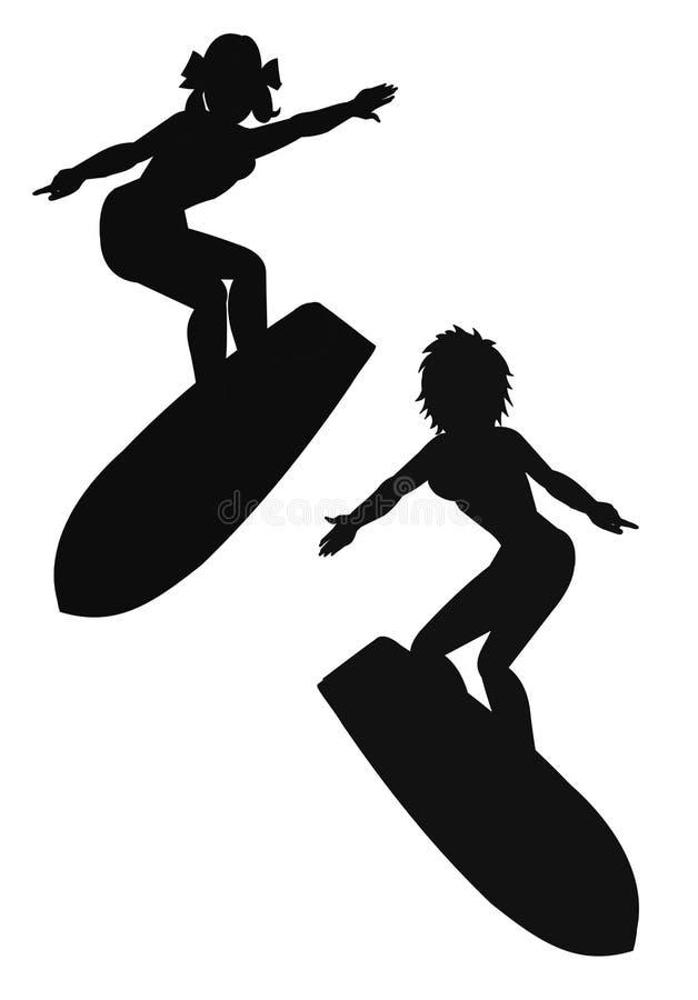 Download Surfisti illustrazione di stock. Illustrazione di archi - 56890684