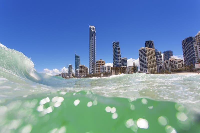 Surfisti paradiso, Queensland, Australia fotografia stock libera da diritti