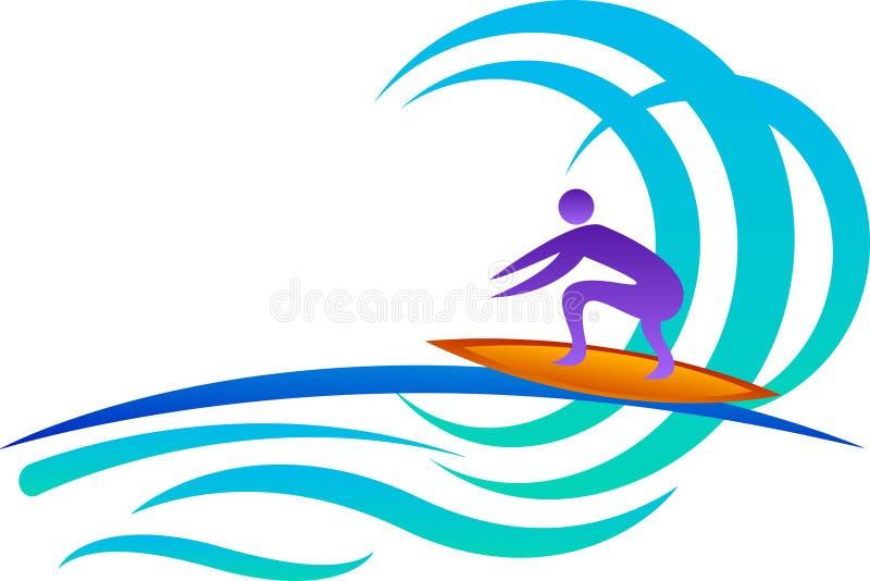 Surfować ilustracja wektor