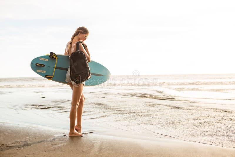 Surfować całodniowy długiego zdjęcie royalty free