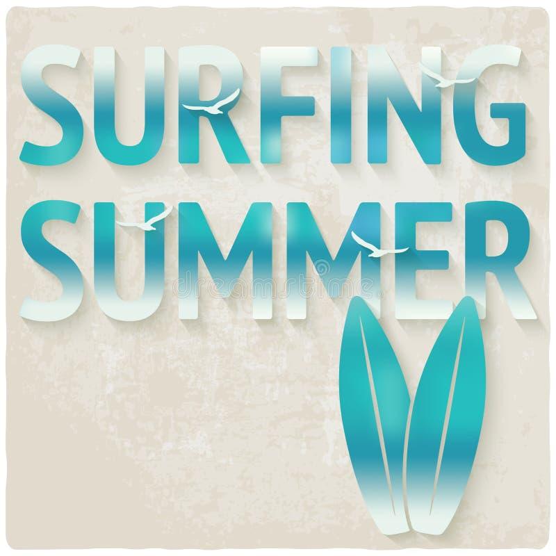 Surfować plażowego lata tło ilustracja wektor
