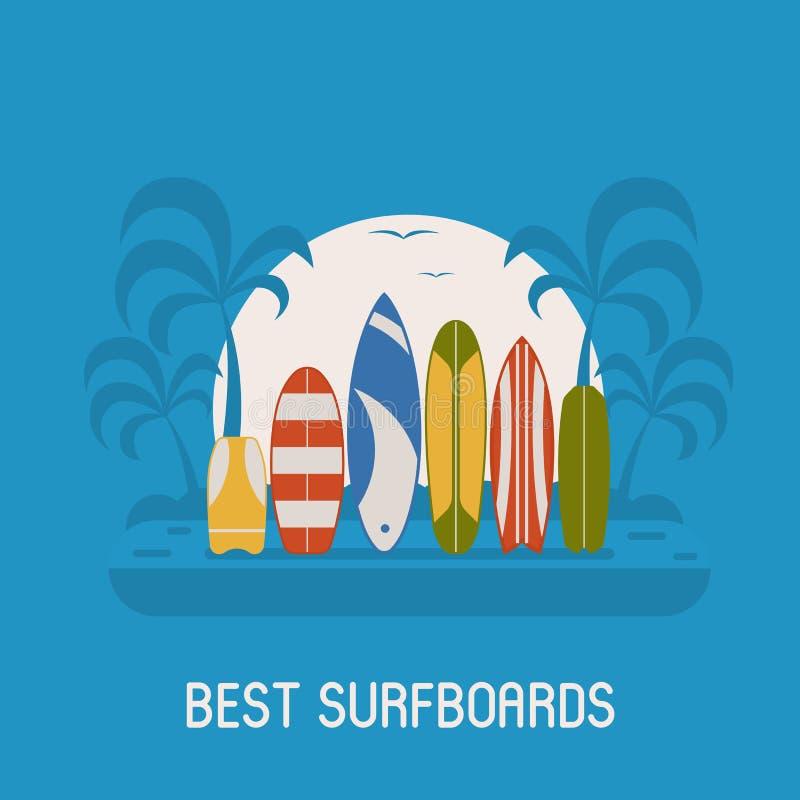 Surfować podróż plakat royalty ilustracja