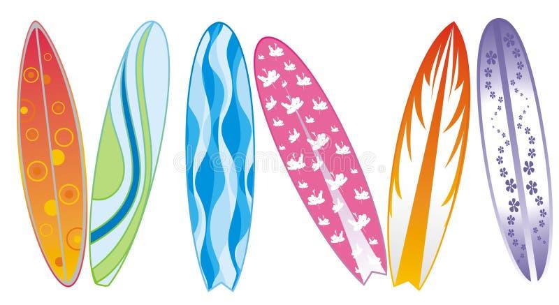 Surfplanken vector illustratie