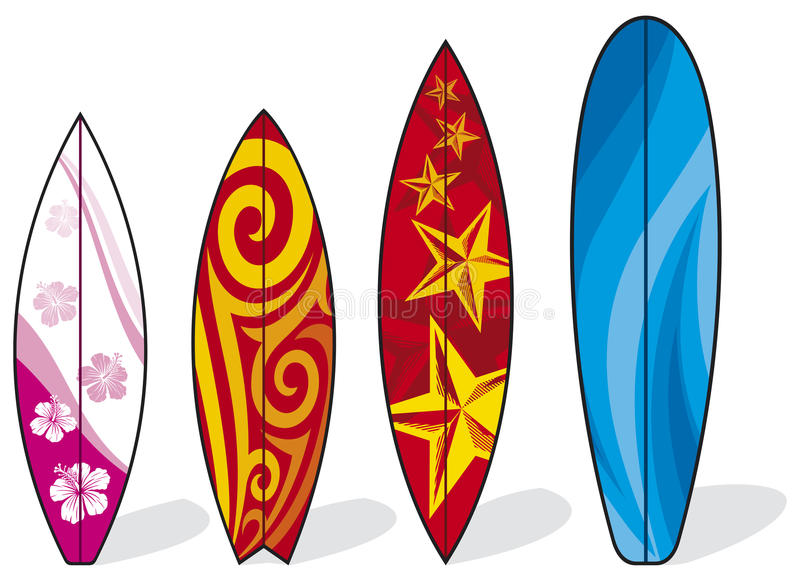 Surfplanken stock illustratie