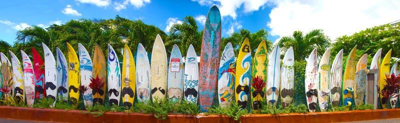 Surfplanken in Hawaï royalty-vrije stock foto's