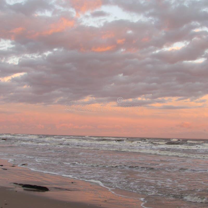 Surfside -го восход солнца в январе стоковое изображение rf