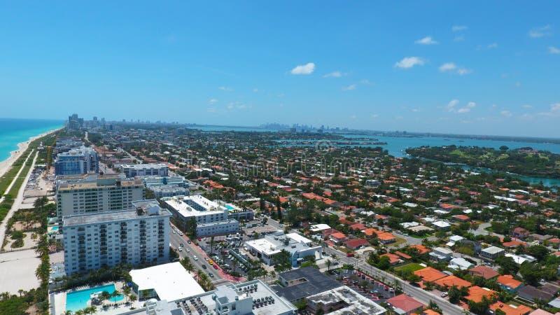Surfside Miami la Florida Residencias de la playa fotografía de archivo