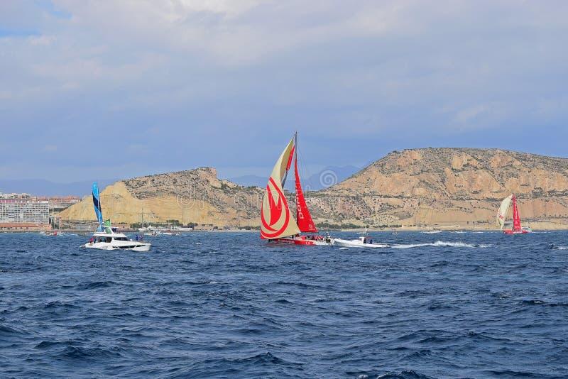 Surfuje Dongfeng Volvo oceanu rasa Alicante 2017 obrazy stock