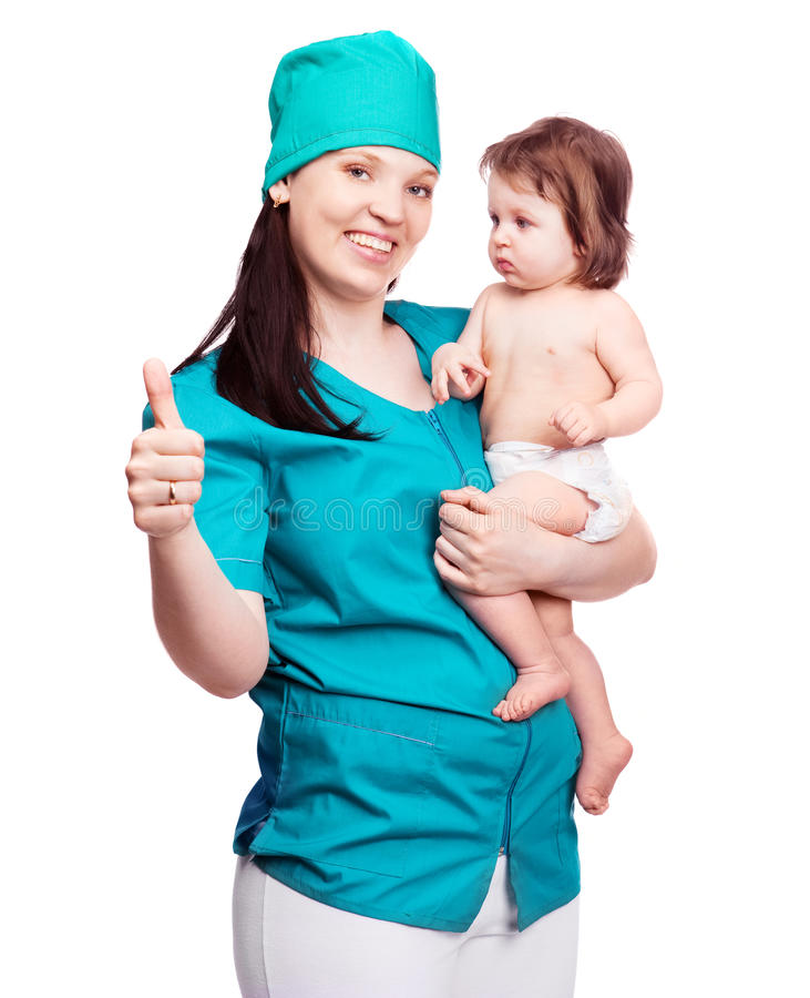 Download Surgeon with a baby stock photo. Image of female, caucasian - 21079496