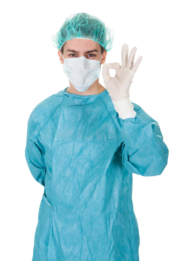 Download Surgeon Giving A Perfect Gesture Stock Image - Image: 28845657