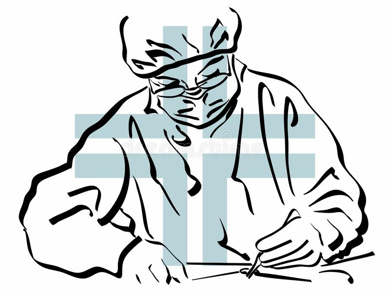Surgeon illustration royalty free illustration