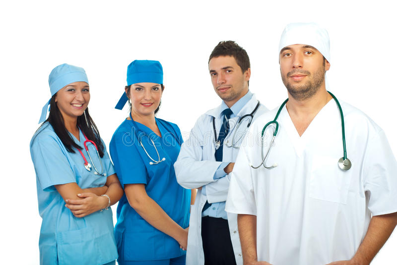 Download Surgeon man and his team stock image. Image of friendly - 16407831