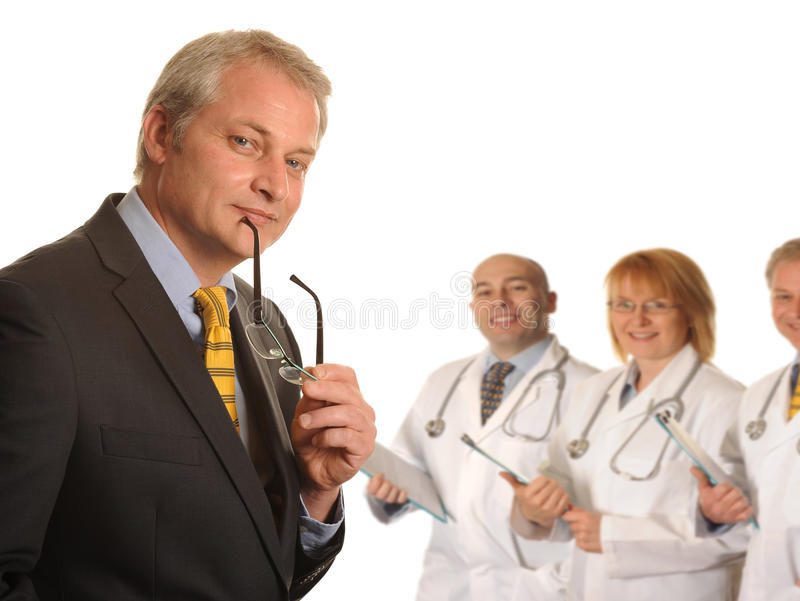 Surgeon With Medical Team Royalty Free Stock Photo