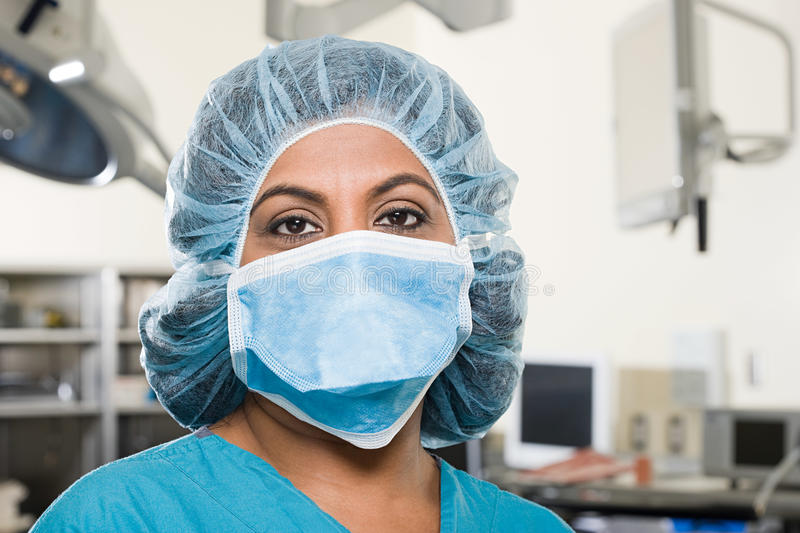 Surgeon in operating theatre royalty free stock image