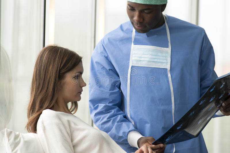 Surgeon and Patient stock photography