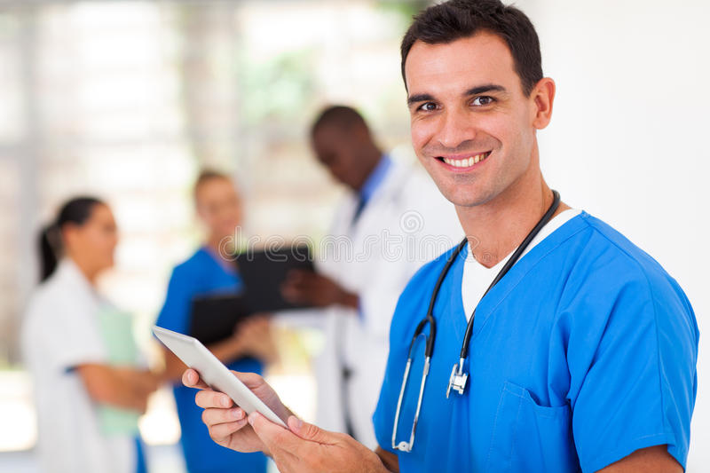 Surgeon Tablet Computer Royalty Free Stock Images