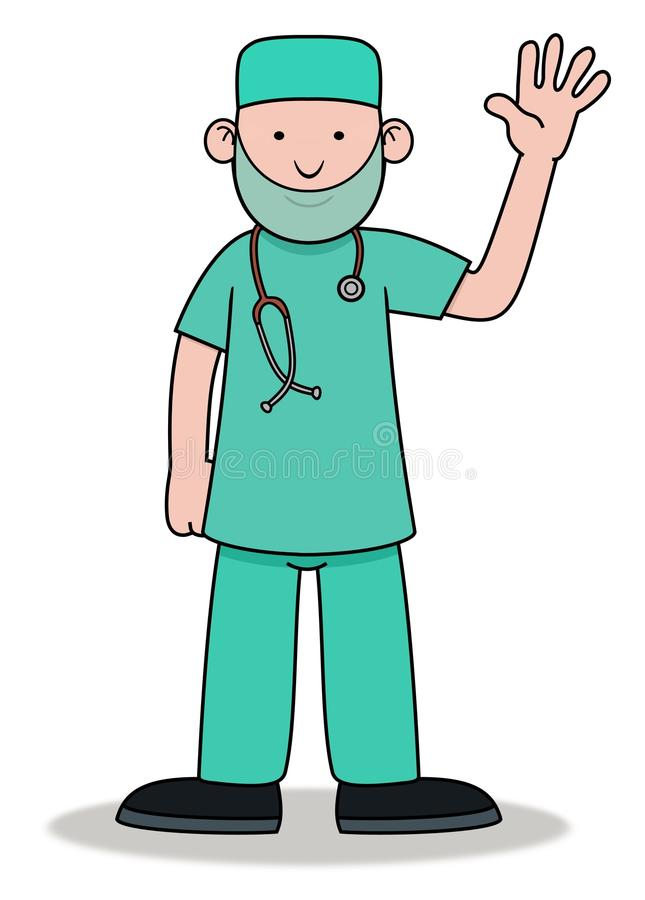 Download Surgeon Waving stock illustration. Image of drawing, care - 22986858