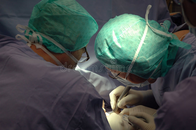 Surgeons. During operation in a hospital, Germany royalty free stock images