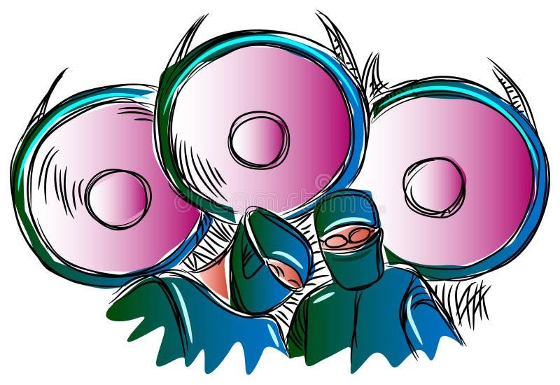 Surgeons team at operation. Illustrated image stock illustration