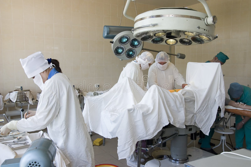 Surgeons at work royalty free stock photography