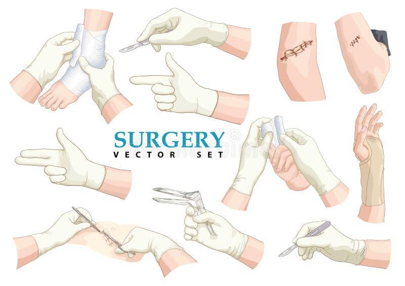surgery πολικό καθορισμένο διάνυσμα καρδιών κινούμενων σχεδίων ελεύθερη απεικόνιση δικαιώματος