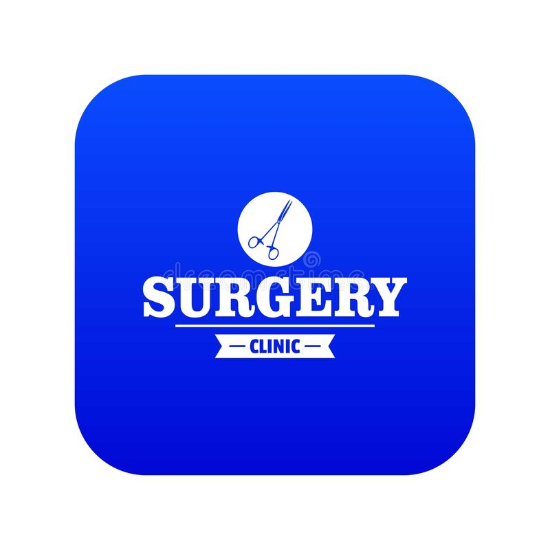 Surgery clinic icon blue vector. Isolated on white background vector illustration