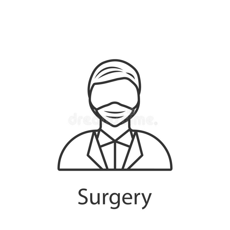Surgery icon. Element of profession avatar icon for mobile concept and web apps. Detailed Surgery icon can be used for web and. Mobile on white background vector illustration